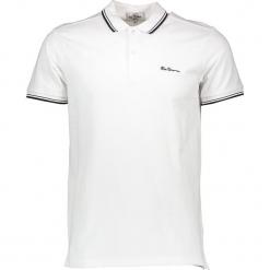 Koszulka polo w kolorze białym. Białe koszulki polo męskie Ben Sherman, z haftami, z bawełny. W wyprzedaży za 108.95 zł.