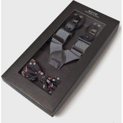 Medicine - Zestaw szelki i mucha XMASS. Białe krawaty i muchy MEDICINE, w geometryczne wzory, z materiału, wizytowe. Za 99.90 zł.