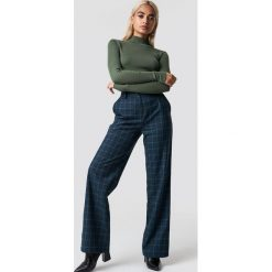 NA-KD Classic Spodnie garniturowe w kratkę - Blue. Niebieskie spodnie materiałowe damskie NA-KD Classic, w kratkę. Za 202.95 zł.