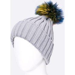Answear - Czapka Blossom Mood. Szare czapki i kapelusze damskie ANSWEAR, z dzianiny. W wyprzedaży za 39.90 zł.
