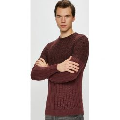 Only & Sons - Sweter. Brązowe swetry przez głowę męskie Only & Sons, z bawełny, z okrągłym kołnierzem. W wyprzedaży za 129.90 zł.