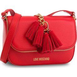 Torebka LOVE MOSCHINO - JC4146PP16LZ0500  Rosso. Czerwone listonoszki damskie Love Moschino, ze skóry. W wyprzedaży za 669.00 zł.
