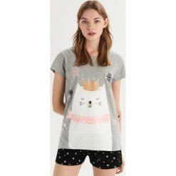 Dwuczęściowa piżama z misiem - Szary. Szare piżamy damskie Sinsay. Za 39.99 zł.