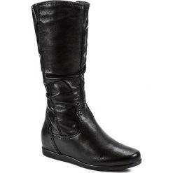 Kozaki TAMARIS - 1-25397-23 Black Leather 003. Czarne kozaki damskie Tamaris, z materiału. W wyprzedaży za 219.00 zł.