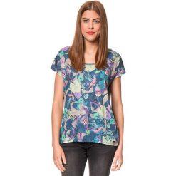 """Koszulka """"Bladina"""" w kolorze granatowym ze wzorem. T-shirty damskie Brunotti, z nadrukiem, z okrągłym kołnierzem, z krótkim rękawem. W wyprzedaży za 74.95 zł."""