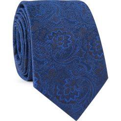 Krawat jedwabny  KWGR000317. Niebieskie krawaty i muchy Giacomo Conti, z jedwabiu. Za 129.00 zł.