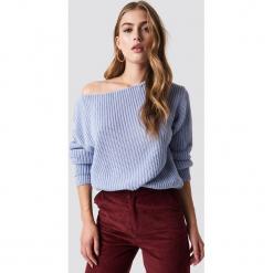 Glamorous Sweter z odkrytymi ramionami - Blue. Niebieskie swetry damskie Glamorous, z dzianiny. Za 141.95 zł.