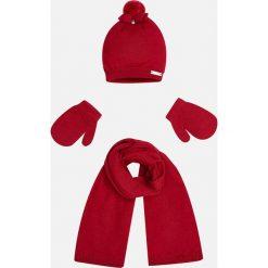 Mayoral - Czapka + szalik i rękawiczki dziecięce. Rękawiczki dziecięce Mayoral, na zimę, z bawełny. W wyprzedaży za 79.90 zł.