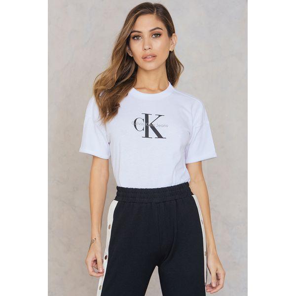 6291115826dbf Calvin Klein T-shirt Teco True Icon - White - T-shirty damskie marki ...