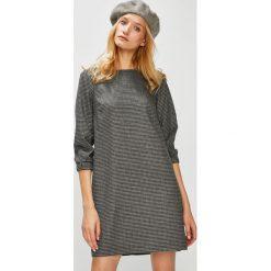 Medicine - Sukienka Hand Made. Szare sukienki damskie MEDICINE, z bawełny, casualowe, z okrągłym kołnierzem. Za 139.90 zł.