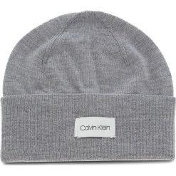 Czapka CALVIN KLEIN - Premium Wool Beanie K50K504094 013. Szare czapki i kapelusze męskie Calvin Klein. Za 229.00 zł.