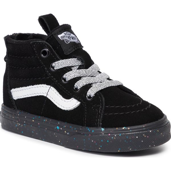 Sneakersy VANS Sk8 Hi Zip VN0A4BV1V3S1 (Me) Glitter SidewallBlk