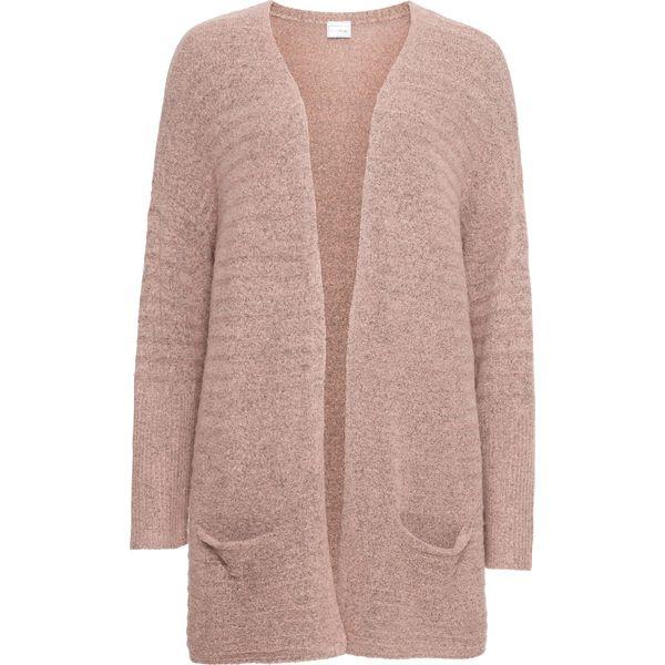 a7e7ec2a266204 Długi sweter bez zapięcia bonprix stary jasnoróżowy melanż - Swetry ...