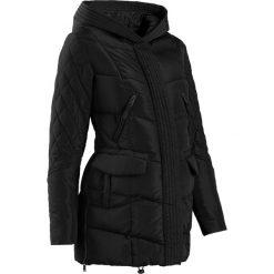 Płaszcz ciążowy pikowany z regulacją obwodu bonprix czarny. Płaszcze damskie marki FOUGANZA. Za 219.99 zł.