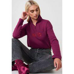 NA-KD Bluza z suwakiem - Red. Czerwone bluzy damskie NA-KD, z bawełny. Za 161.95 zł.