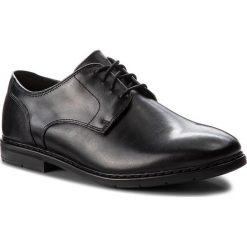 Półbuty CLARKS - Banbury Lace 261322107 Black Leather. Czarne eleganckie półbuty Clarks, z materiału. W wyprzedaży za 279.00 zł.