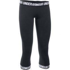 Under Armour Legginsy Favorite Capri Hem Black Black White M. Białe legginsy sportowe damskie Under Armour, z bawełny. W wyprzedaży za 119.00 zł.