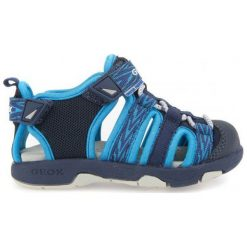 Geox Sandały Chłopięce Multy 20 Niebieski. Niebieskie sandały chłopięce Geox. W wyprzedaży za 139.00 zł.