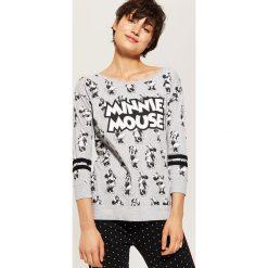 Koszulka piżamowa Minnie Mouse - Jasny szar. Szare koszule nocne damskie House, z motywem z bajki. Za 49.99 zł.