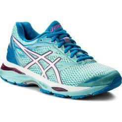 Buty ASICS - Gel-Cumulus 18 (2A) T6D6N  Aqua Splash/White/Pink Glow 6701. Niebieskie obuwie sportowe damskie Asics, z materiału. W wyprzedaży za 289.00 zł.