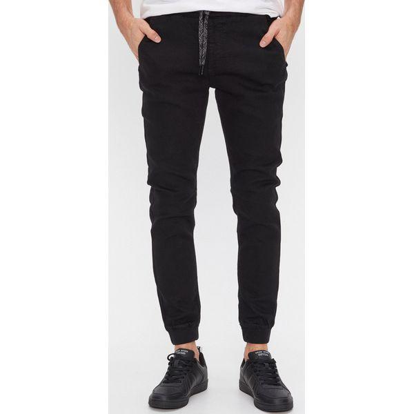 Denimowe spodnie jogger slim Czarny