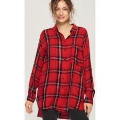 Koszula oversize w kratkę - Czerwony. Czerwone koszule damskie Sinsay, w kratkę. Za 59.99 zł.