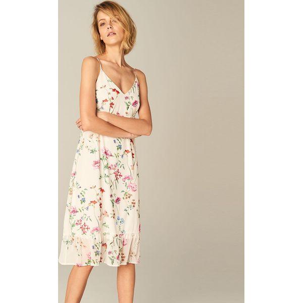 248a605d Zmysłowa sukienka w kwiaty - Wielobarwn