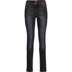 Dżinsy wyszczuplające sylwetkę SLIM bonprix czarny. Jeansy damskie marki bonprix. Za 149.99 zł.