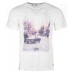 Mustang T-Shirt Męski Photoprint M Kremowy. Białe t-shirty męskie Mustang, z bawełny. Za 129.00 zł.
