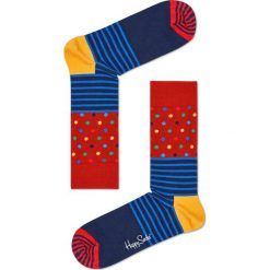 Happy Socks - Skarpety Stripe&Dots. Szare skarpety męskie Happy Socks. W wyprzedaży za 29.90 zł.