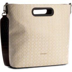Torebka TWINSET - Shopping AS7TZ2 Bianco S 00827. Brązowe torebki do ręki damskie Twinset, ze skóry ekologicznej. W wyprzedaży za 379.00 zł.