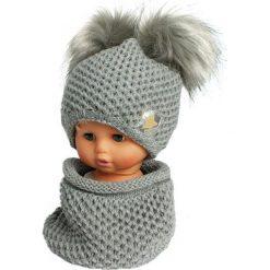 Czapka dziecięca z kominkiem CZ+K 173I. Szare czapki dla dzieci Proman. Za 61.61 zł.
