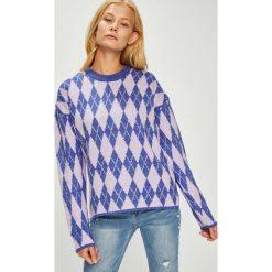 Trendyol - Sweter. Szare swetry damskie Trendyol, z dzianiny, z okrągłym kołnierzem. W wyprzedaży za 69.90 zł.