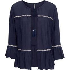 Bluzka z wiązanym troczkiem bonprix ciemnoniebieski. Bluzki damskie marki Colour Pleasure. Za 49.99 zł.