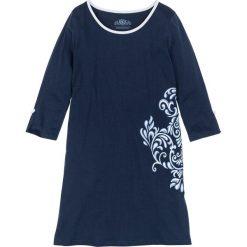 Koszula nocna, bawełna organiczna bonprix ciemnoniebieski z nadrukiem. Niebieskie koszule nocne damskie bonprix, z nadrukiem, z bawełny. Za 44.99 zł.