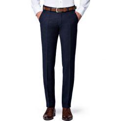 Spodnie Granatowe Flanelowe Diego. Czarne eleganckie spodnie męskie LANCERTO, na jesień, z wełny. Za 399.90 zł.