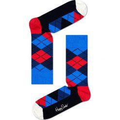 Happy Socks - Skarpetki Argyle. Niebieskie skarpety damskie Happy Socks, z bawełny. Za 39.90 zł.