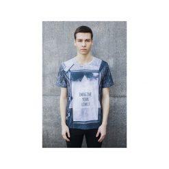 T-shirt Imagine Your Limit. Niebieskie t-shirty męskie Bahabay, z nadrukiem, z bawełny. Za 83.30 zł.