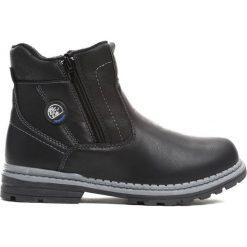 Czarne Traperki Big-City. Czarne buty zimowe chłopięce Born2be, z materiału. Za 79.99 zł.
