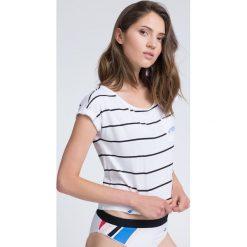 T-shirt damski TSD011 - biały. T-shirty damskie marki DOMYOS. W wyprzedaży za 44.99 zł.