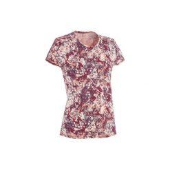 Koszulka NH500 damska. Czerwone t-shirty damskie QUECHUA. W wyprzedaży za 19.99 zł.
