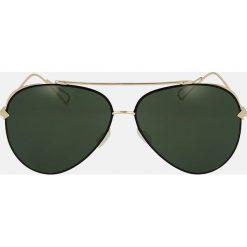 Złote okulary przeciwsłoneczne. Żółte okulary przeciwsłoneczne damskie Kazar. Za 369.00 zł.