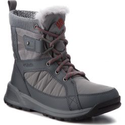 Śniegowce COLUMBIA - Meadows Shorty Omni-Heat 3D BL5966 Ti Grey Steel/Marsala Red 033. Szare kozaki damskie Columbia, z materiału. W wyprzedaży za 349.00 zł.