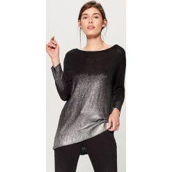 Sweter z efektem cieniowania - Czarny. Czarne swetry damskie Mohito. Za 119.99 zł.
