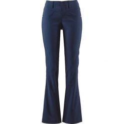 Spodnie wyszczuplające z bengaliny ze stretchem BOOTCUT bonprix ciemnoniebieski. Niebieskie spodnie materiałowe damskie bonprix. Za 89.99 zł.