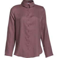 bc022dfddf5fff Damska Koszula Lniana Luźna Pudrowy Róż. Czerwone koszule damskie Veva, na  lato, bez