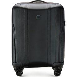 Walizka kabinowa 56-3P-911-10. Brązowe walizki damskie Wittchen, z gumy. Za 259.00 zł.