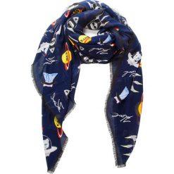 Chusta KARL LAGERFELD - 86KW3309 Space Sky 338. Niebieskie szaliki i chusty damskie KARL LAGERFELD, z kaszmiru. Za 429.00 zł.