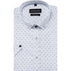 Koszula MICHELE KKBE000024. Białe koszule męskie Giacomo Conti, na lato, z bawełny, button down, z krótkim rękawem. Za 199.00 zł.