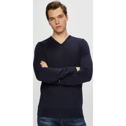 Tommy Hilfiger Tailored - Sweter. Czarne swetry przez głowę męskie Tommy Hilfiger Tailored, z dzianiny. Za 399.90 zł.